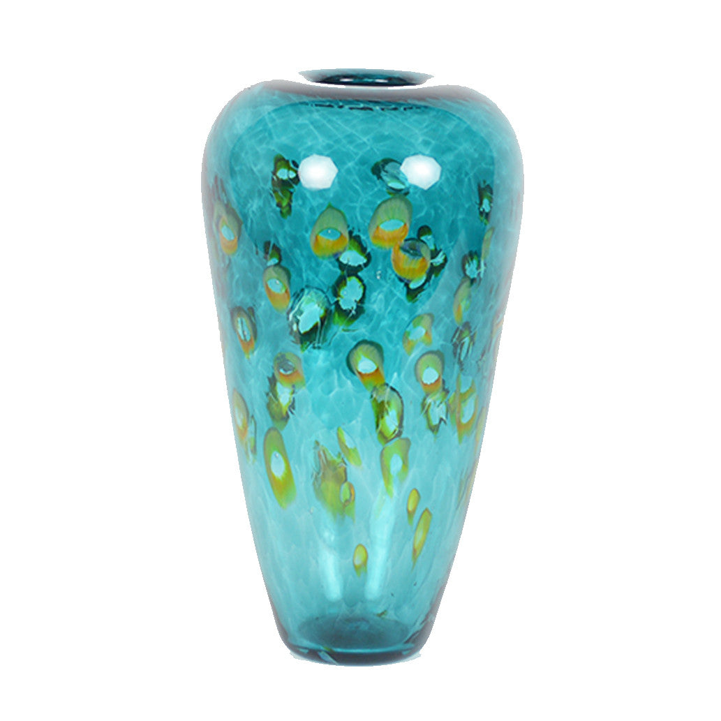 Emerald Ocean Tall Puff Vase