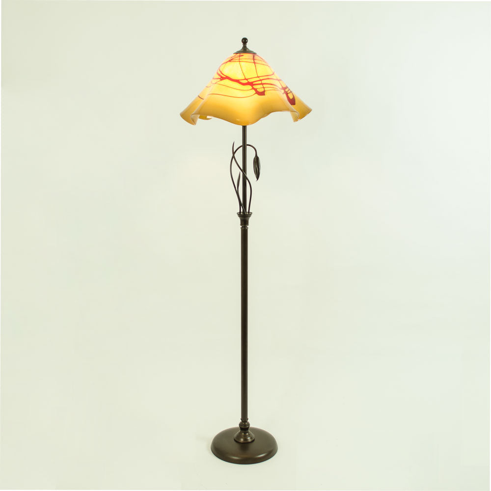 handcrafted art glass floor lamp