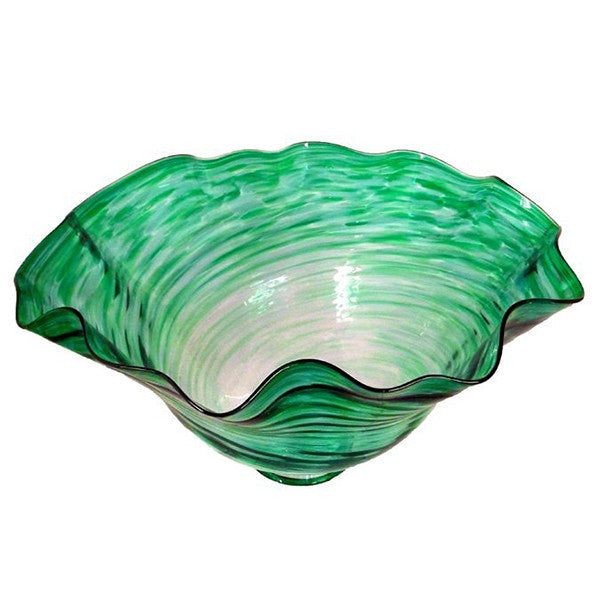 Green Cast Base Bowl Medium