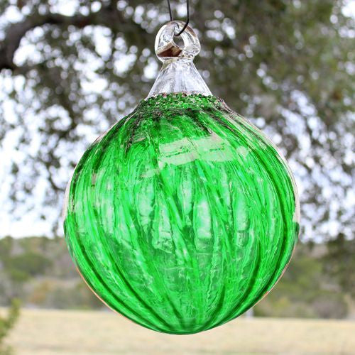 handmade green outdoor ornament