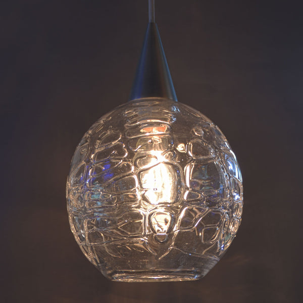 WAC Corded Pendant with Hot Wrap Clear Medium Globe