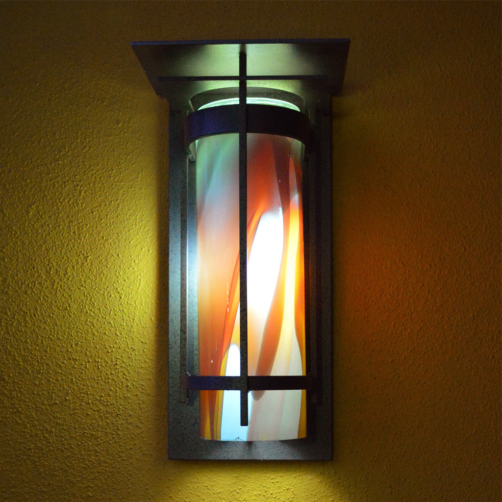 Banded Outdoor Sconce with Top Plate