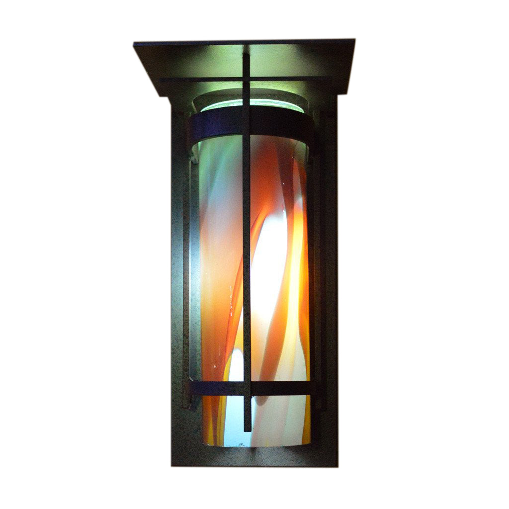 outdoor wall sconce with handmade shade