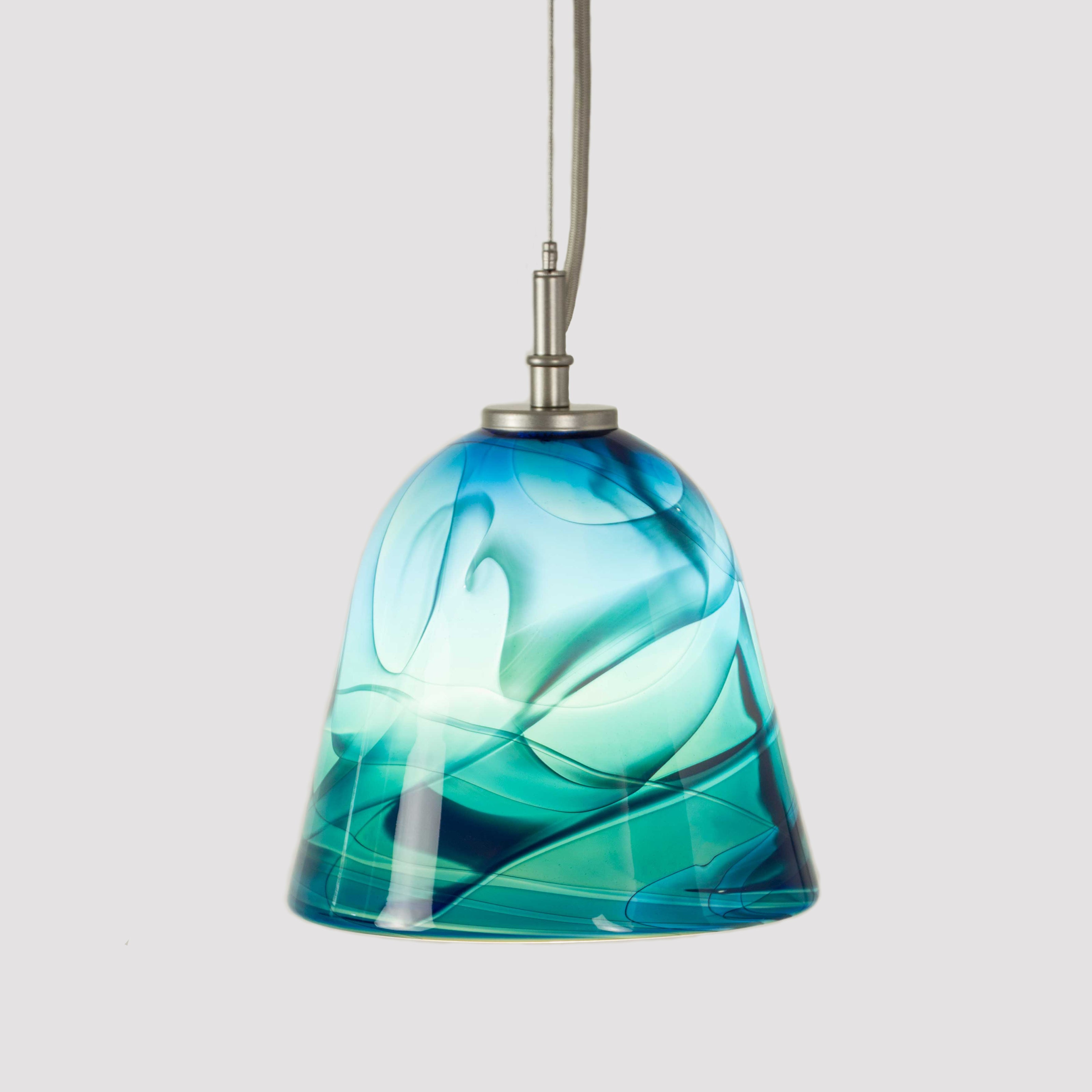 WGW Universal Cable Pendant with Oceanstone flare shade