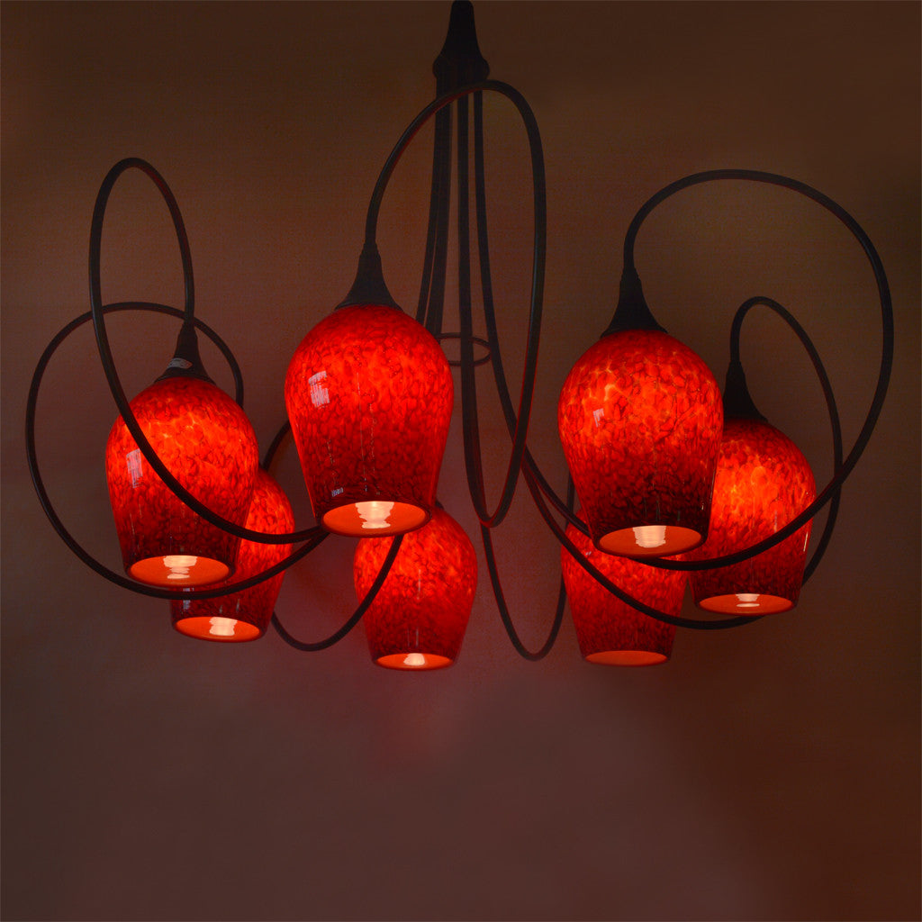 handcrafted art glass chandelier lighting for the home