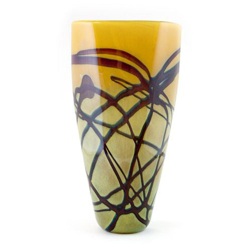 Random Trails Flat Taper Vase