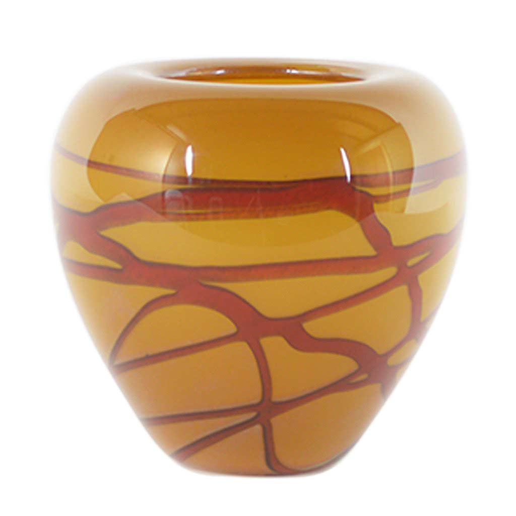 Random Trails Short Puff Vase