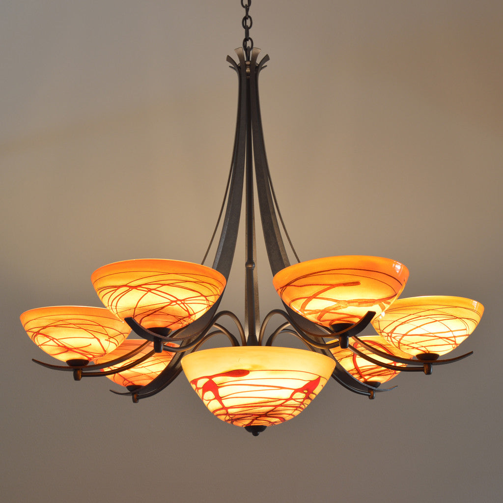 seven shade handcrafted chandelier
