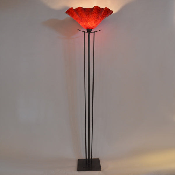 Taper Torchiere Floor Lamp Wimberley Glassworks