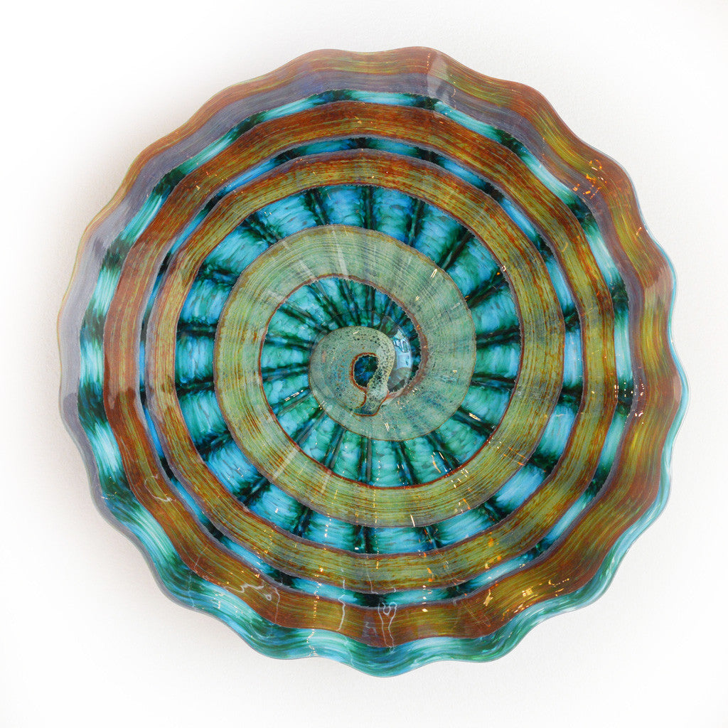 New Beginnings Teal Platter Large and XLarge