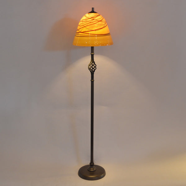 handcrafted art glass lighting floor lamp