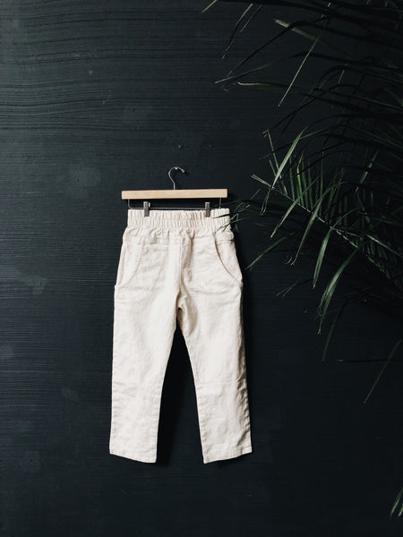 {103} Cream Denim Trousers