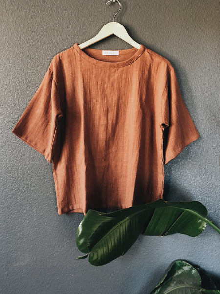 {106} Perfect Tee - Clay