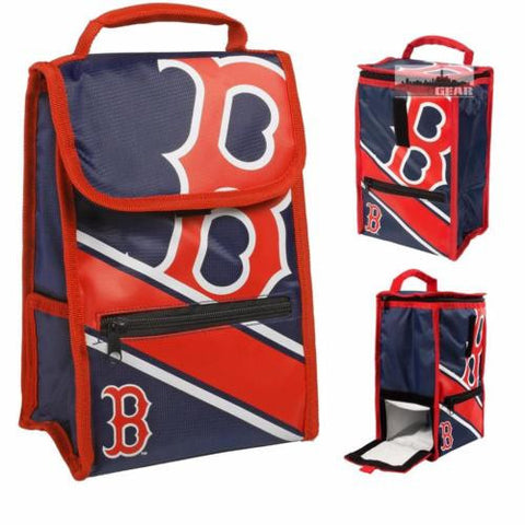 MLB Baseball Convertible School Work Lunch Bag Insulated Cooler with External Zipper Pouch - Pick Team!