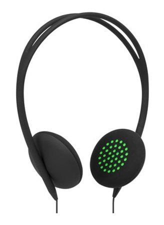 INCASE PIVOT ON EAR LIGHT HEADPHONES - BLACK/FLURO GREEN