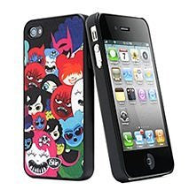 iSkin Happy Friend Case for iPhone 4/4S - Retail Packaging - Black