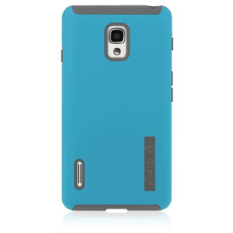 Incipio LGE-212 DualPro for LG Optimus F7 - Retail Packaging - Cyan/Gray