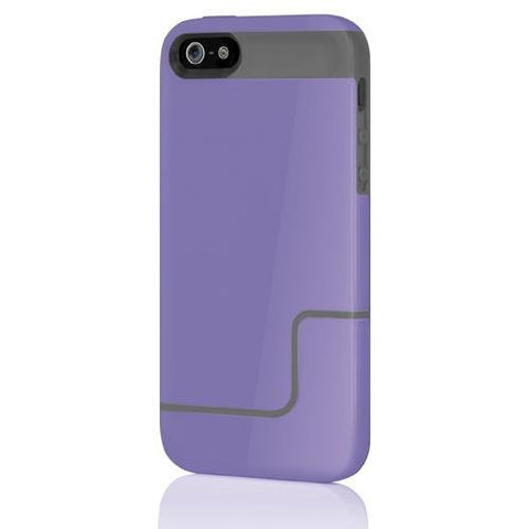Incipio EDGE PRO for iPhone 5 - Retail Packaging - Vivid Violet / Charcoal Gray