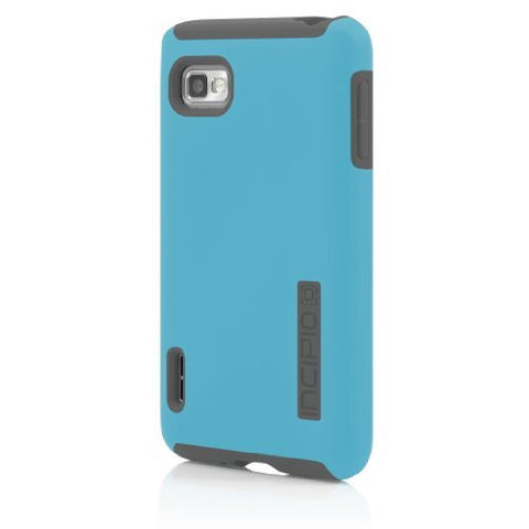 Incipio LGE-200 DualPro for LG Optimus F3 - Retail Packaging - Cyan / Charcoa...