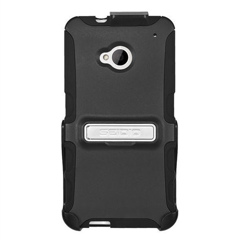 Seidio BD2-HK3HTM7K-BK with Metal Kickstand Case and Holster Combo for Use wi...
