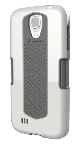 Qmadix Legacy Case for Samsung Galaxy S4 - Retail Packaging - White Gray
