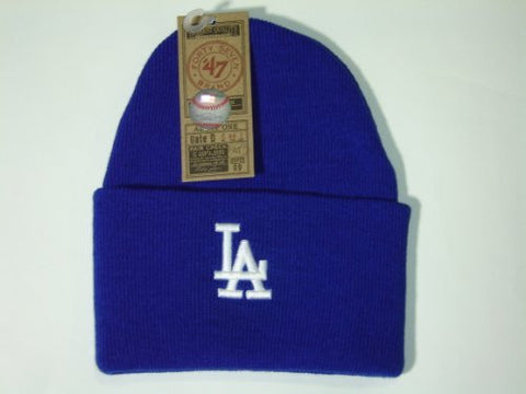 47Brand MLB Los Angeles Dodgers Royal Blue Classic Cuffed Knit Winter Beanie Hat