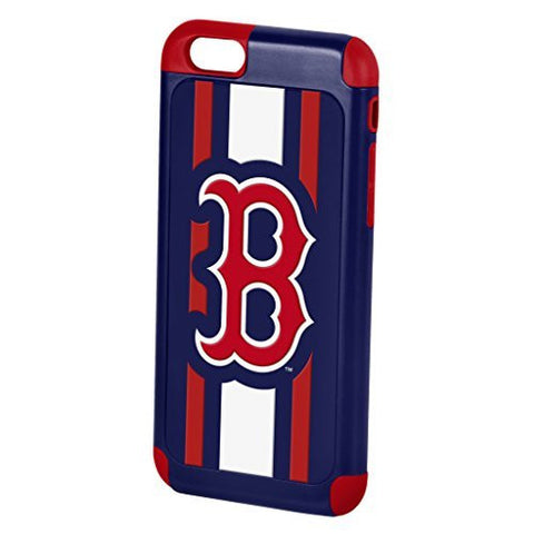 Forever Collectibles MLB Baseball Red Sox Dual Hybrid 2-Piece TPU Case for iPhone 6