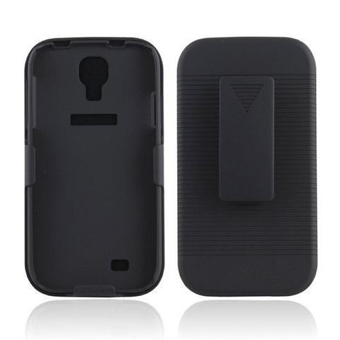 Black Hard Case Belt Clip Holster with 180 Degree Rotating Stand for Samsung Galaxy S4 i9500