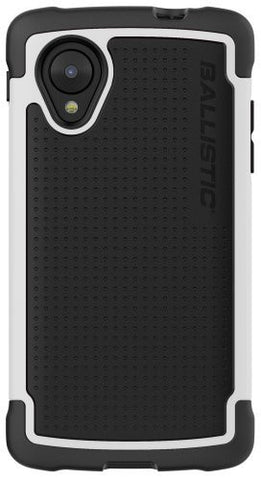 Ballistic Tough Jacket for LG Nexus 5 D820/D821 - Retail Packaging - Black/White