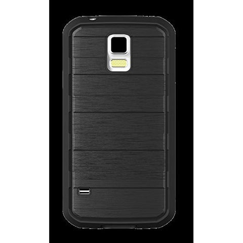 BODYGLOVE RISE FOR GALAXY S5 - BLACK/ BRUSHED METAL