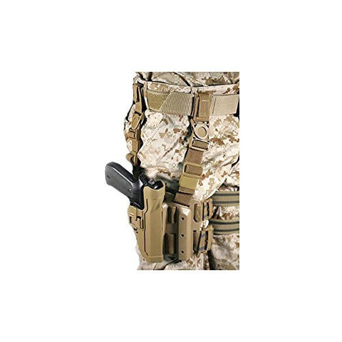 New BLACKHAWK! Serpa Level 2 Tactical Coyote Tan holster, Size 04, Right Hand