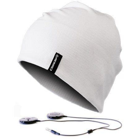 Sound Disk Sports White Beanie [Electronics]