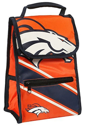NFL Football Convertible Cooler Lunch Bag with External Zipper Pouch - Pick Team!