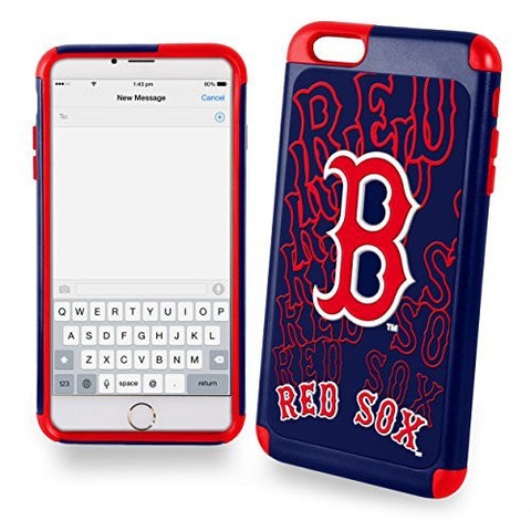 Forever Collectibles MLB Red Sox Dual Hybrid 2-Piece TPU Case for iPhone 6 Plus