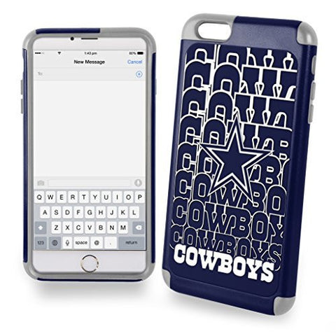 Forever Collectibles NFL Dual Hybrid 2-Piece TPU Case for iPhone 6 Plus - Retail Packaging - Dallas Cowboys