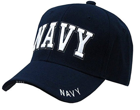 US Navy Text Embroidered Military Baseball Cap Hat By Rapid Dominance