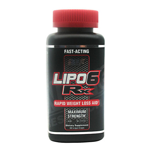 Nutrex Lipo 6 Rx Rapid Weight Loss Aid - 60 Capsules