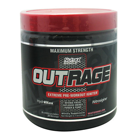 Nutrex Research Outrage Supplement, Watermelon, 144 Gram