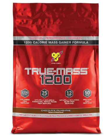 BSN TRUE-MASS 1200 Chocolate Milkshake, 10.38 lb (15 Servings)