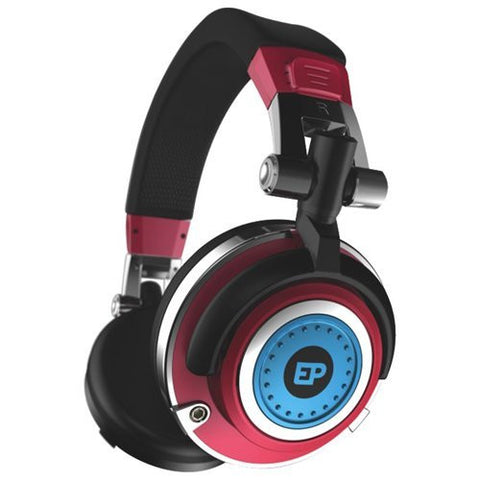 EarPollution Mogul DJ Style over the ear Headphones - Blue/Red by ifrogz