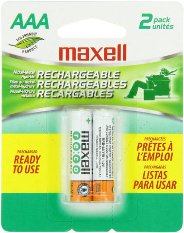 Maxell MH03 2BP AAA 800 mAh Rechargeable Batteries - 2 Pack