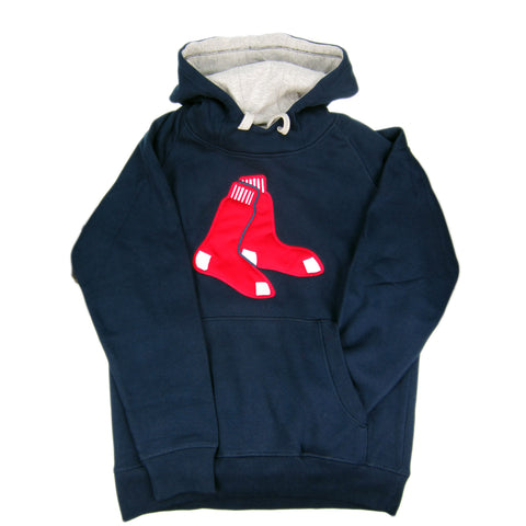 Boston Red Sox Licensed Antigua MLB Baseball Pullover Hooded Sweatshirt Hoodie - Blue