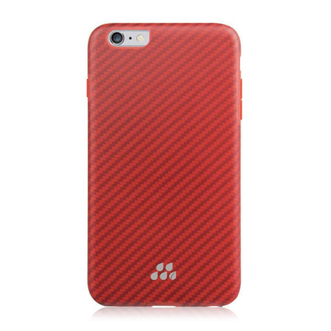 EVUTEC Karbon SI Brigadine Case Cover for Apple iPhone 6/6S PLUS - Red/Orange
