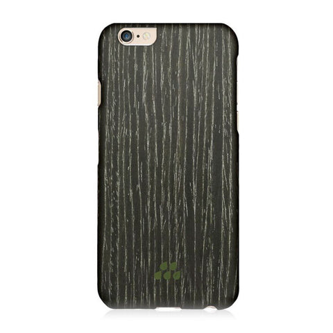 EVUTEC Wood SI Black Apricot Case Cover for Apple iPhone 6/6S  PLUS- Black