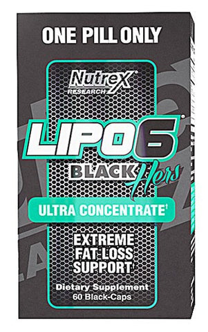 Nutrex Lipo-6 Black Hers Ultra Concentrate, 60 Capsules
