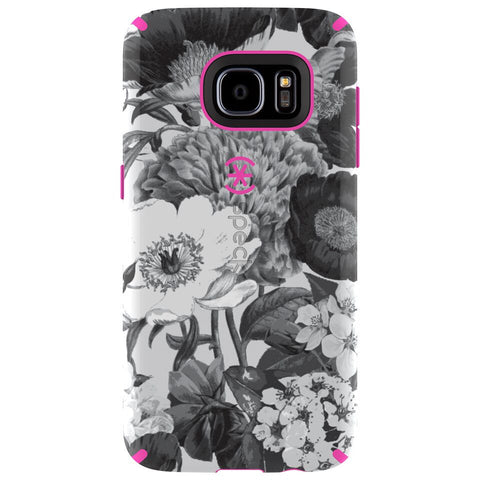 Speck Samsung Galaxy S7 CandyShell Inked Case - Vintage Bouquet Grey / Shocking Pink