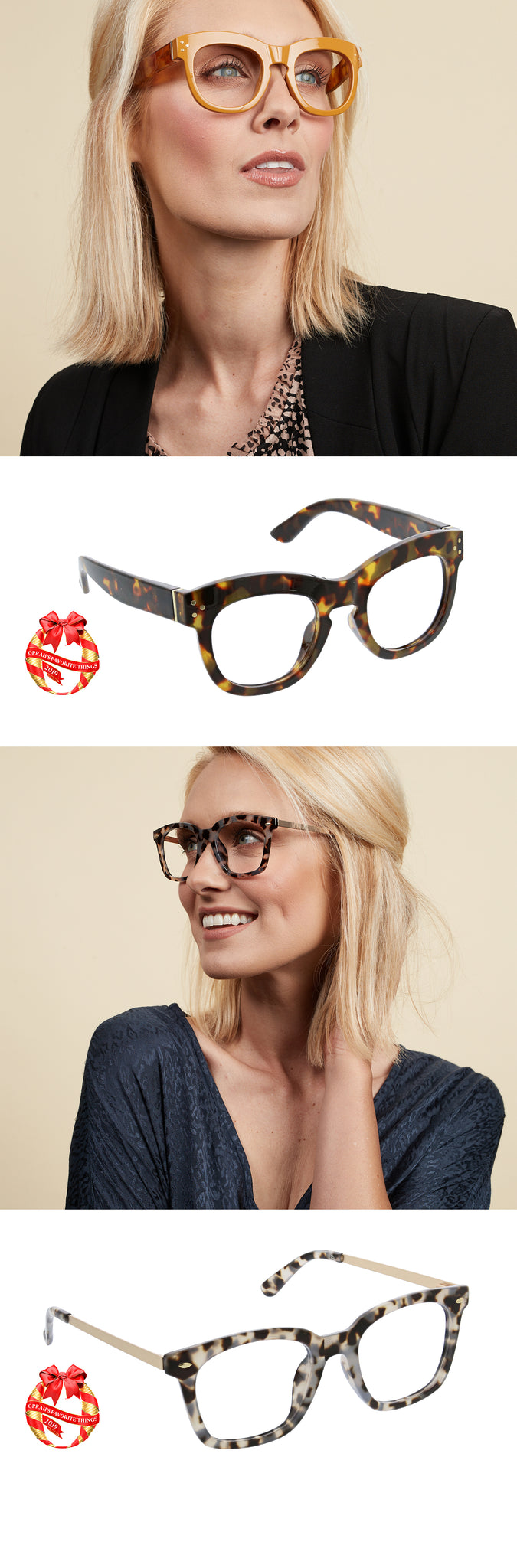 Bravado and Limelight blue light reading glasses by Peepers