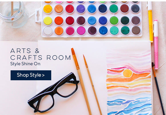Peepers Shine On Oprah's Favorite in an arts and crafts room with a watercolor pallet and artwork