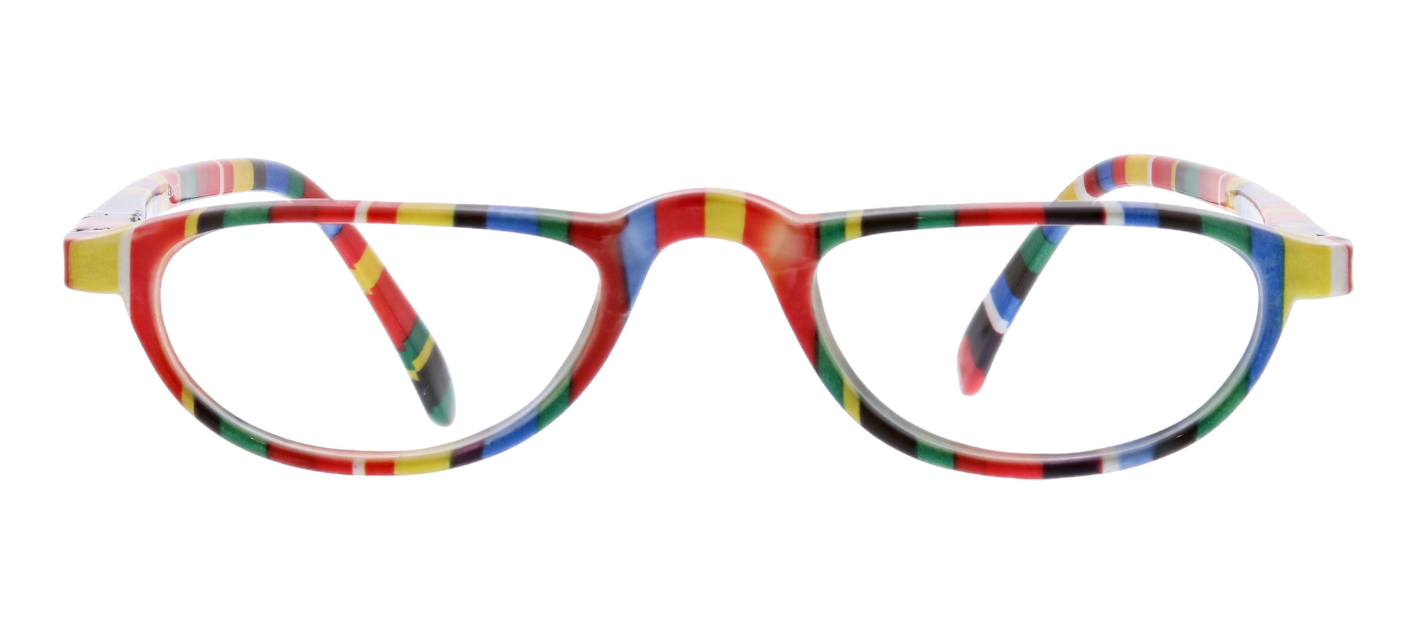 Fruit Stripe Gum multi-colored reading glasses by Peepers