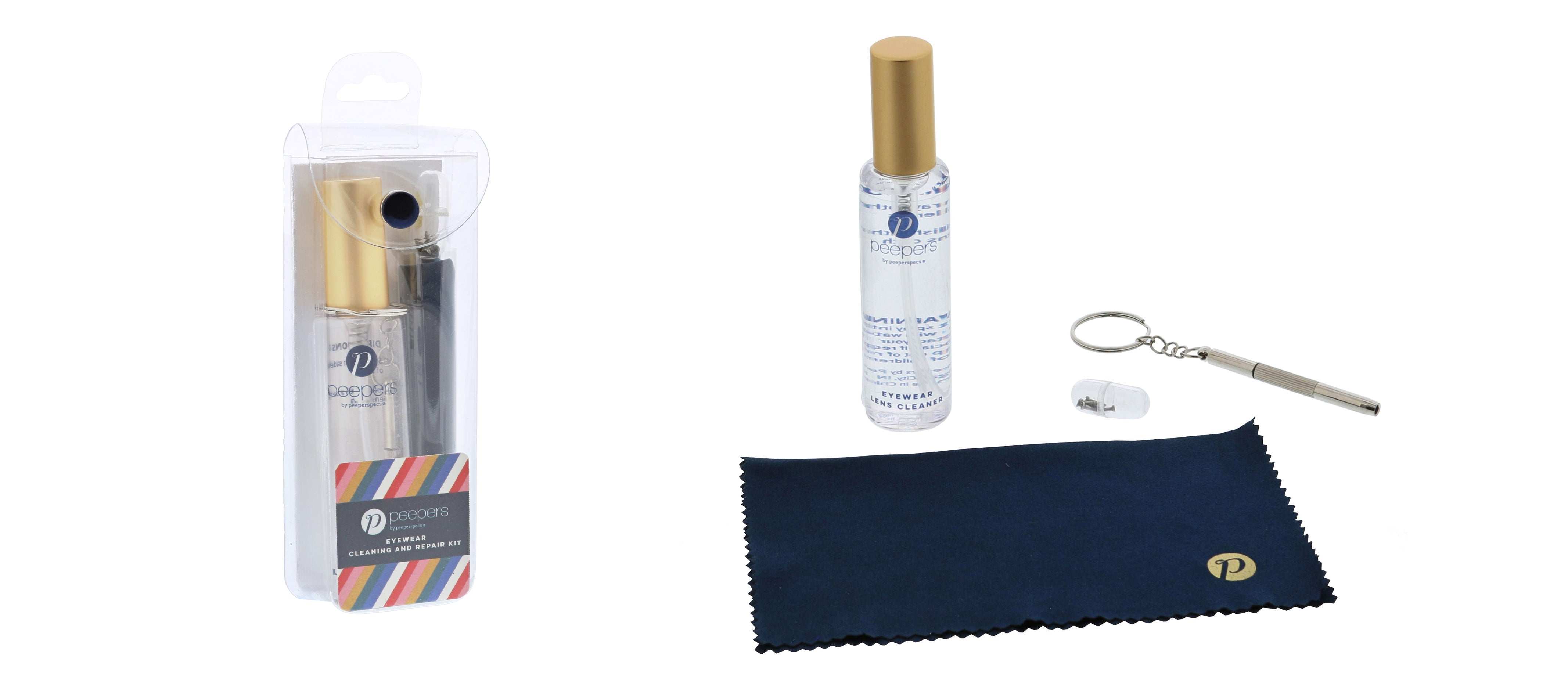 Peepers cleaning kit for eyeglasses
